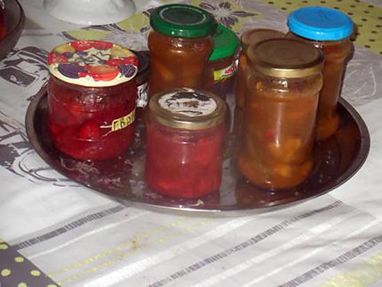 confiture abricot fraise rhubarbe