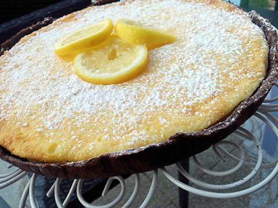 recette Tarte au citron sur sa pate chocolaté