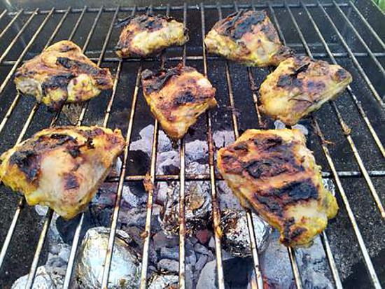 recette de grillades de poulet marinade citron et curry. Black Bedroom Furniture Sets. Home Design Ideas