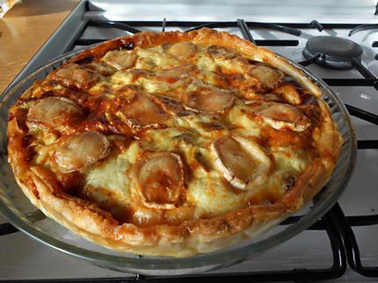 recette Quiche aux poireaux, chorizo , chèvre et fromage blanc (à0% pour moi)  ET......