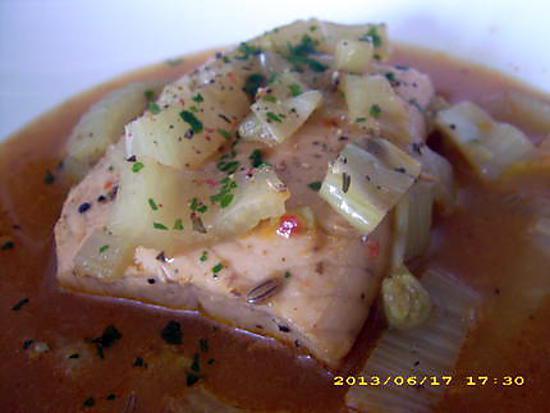 recette bouillon de fenouil au saumon (recette minceur)