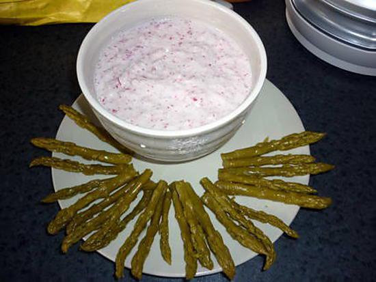 recette Dip de radis & asperges vertes