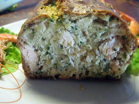 recette Cake au saumon et ciboulette.
