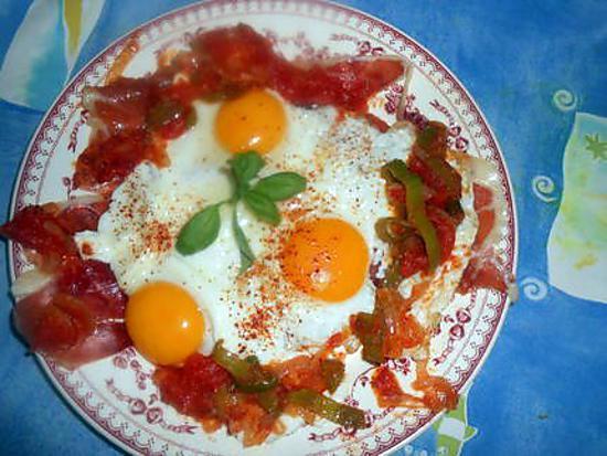 recette oeufs au jambon de bayonne