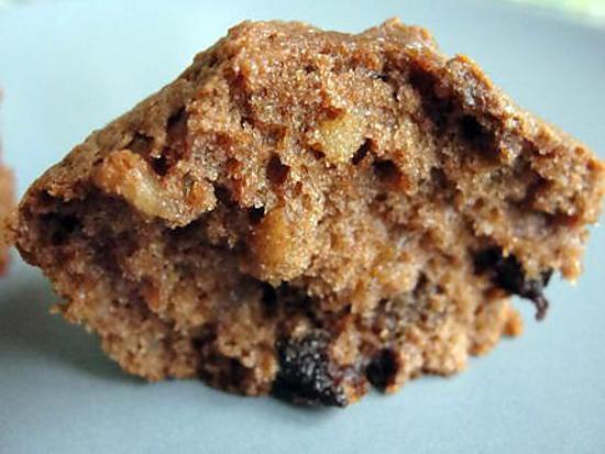 recette muffins choco fruits secs et raisins secs
