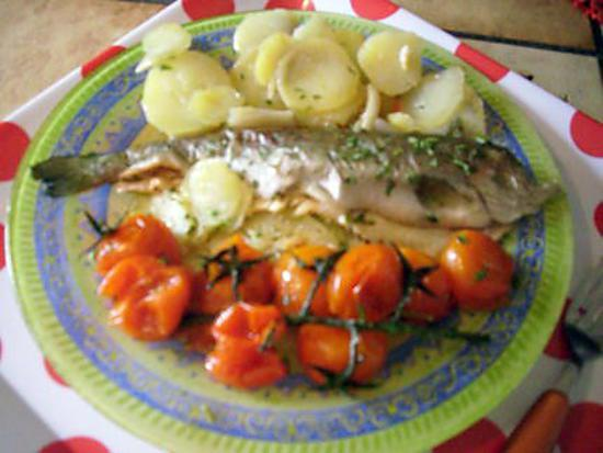 Recette de truite arc en ciel en papillote recette de - Tf1 recettes cuisine laurent mariotte ...
