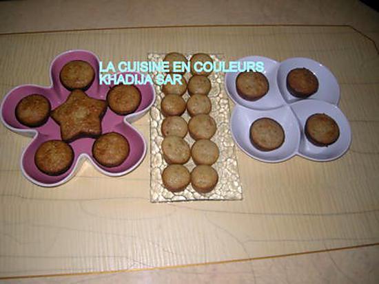 recette Petits moelleux à l'ananas;aux litchies et au cocktail de fruits