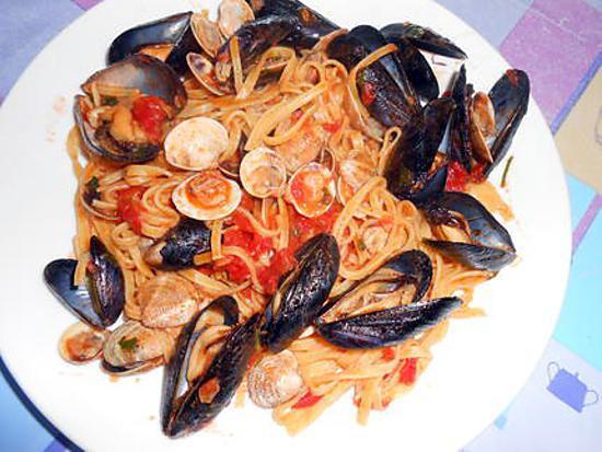 Recette de tagliolini aux moules et palourdes for Cuisiner des palourdes