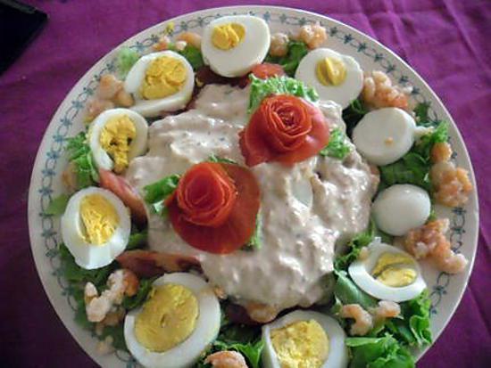recette salade composée sauce au thon