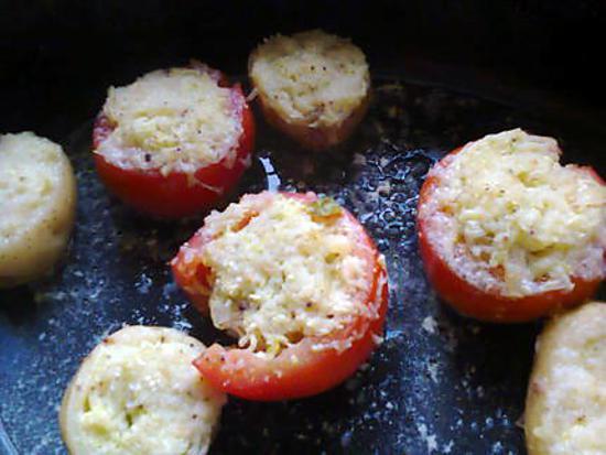 recette de pomme de terre nouvelle et tomate farci aux courgettes. Black Bedroom Furniture Sets. Home Design Ideas