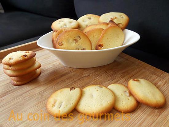 recette Palets rhum/Raisins