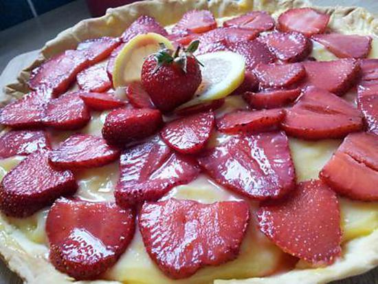 recette Tarte au lemon curd et fraises