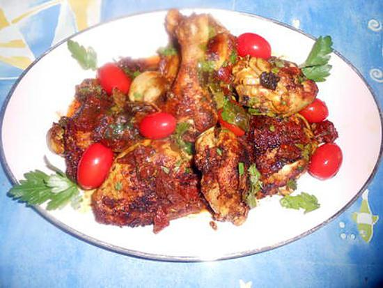 recette Poulet sauté aux épices