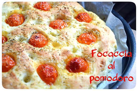 recette Focaccia italienne aux tomates