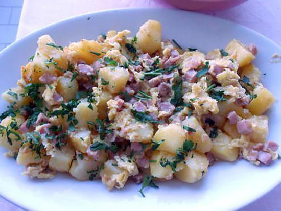 Patate à la carbonara 430