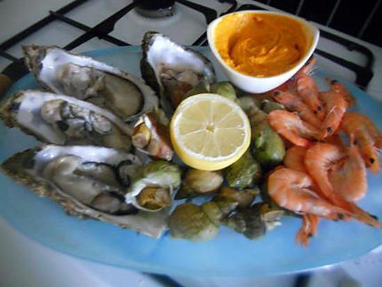 recette Plateau de fruit de mer maison