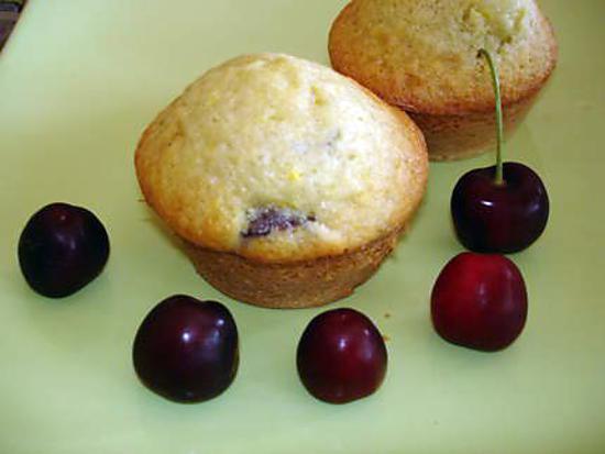 recette Muffins aux cerises fraiches