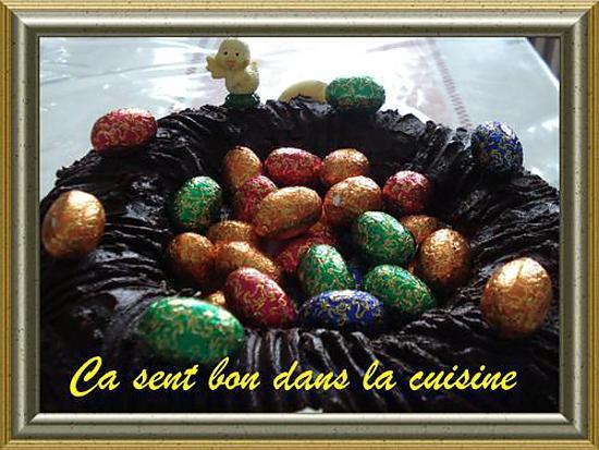 Recette de nid de p ques au chocolat - Recette nid de paques au moka ...