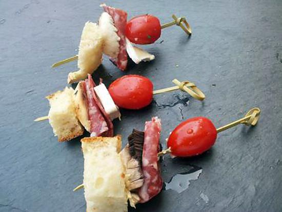 recette de brochettes aperitives campagnarde. Black Bedroom Furniture Sets. Home Design Ideas