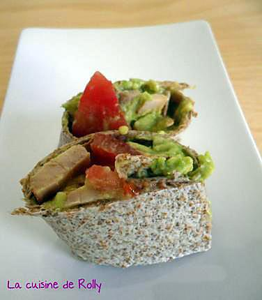 recette de wraps poulet avocat tomate. Black Bedroom Furniture Sets. Home Design Ideas