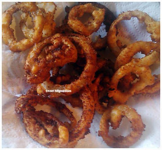 """recette Onion Rings """"Anneaux d'oignons frits"""""""