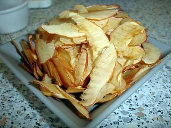 recette d 39 epluchures de pommes chips. Black Bedroom Furniture Sets. Home Design Ideas