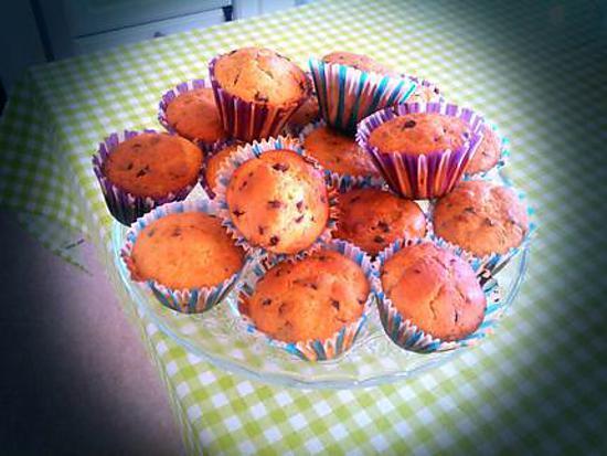 recette Muffins pepites de chocolat