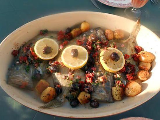 recette St.Pierre roti tomates séchées ,olives noires