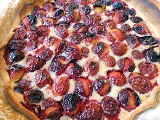 recette Tarte aux prunes crème d'amande