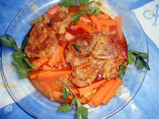 Recette de jarret de veau aux carottes par jeanmerode - Jarret de veau au four ...
