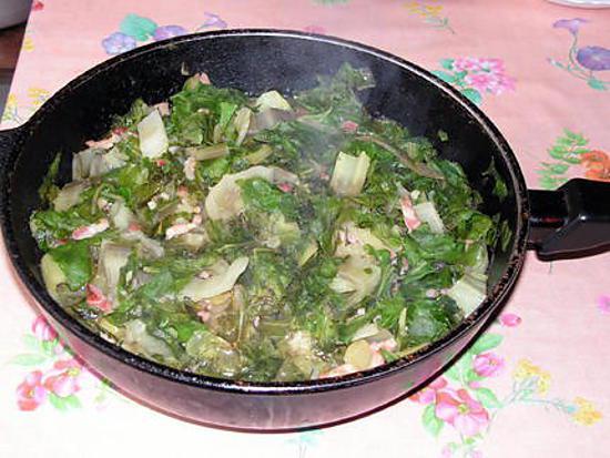 recette Cote de bette aux lardons