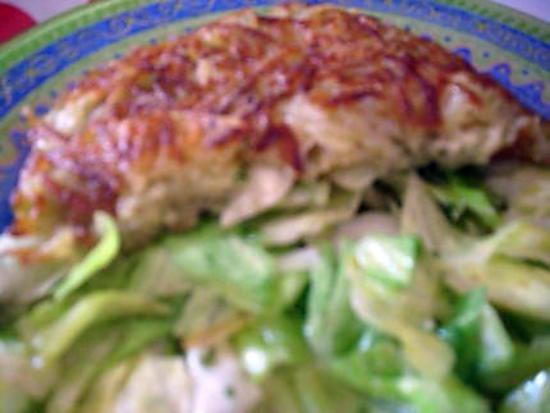 recette croustillant de pommes de terre au bresse bleu