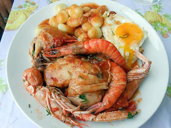 Recette de poulet marengo et gnocchi maison - Poulet marengo recette ...