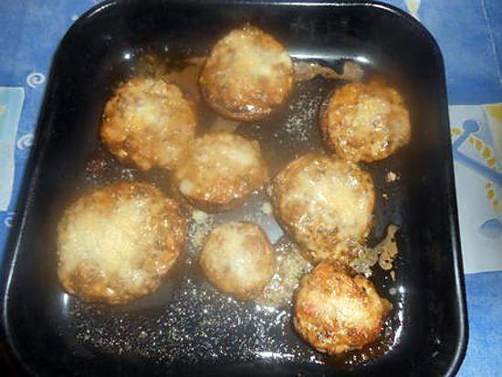 recette Champignons montobello à la mozarella