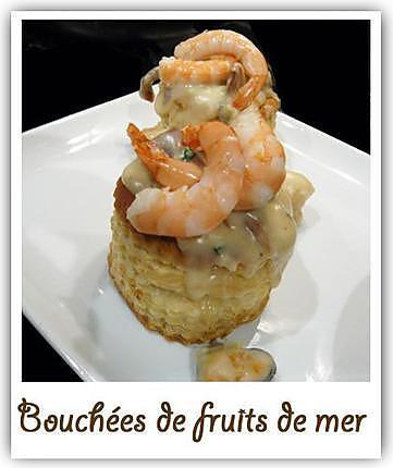 recette Bouchées de fruits de mer