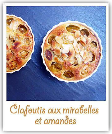 recette de clafoutis aux mirabelles et amandes. Black Bedroom Furniture Sets. Home Design Ideas
