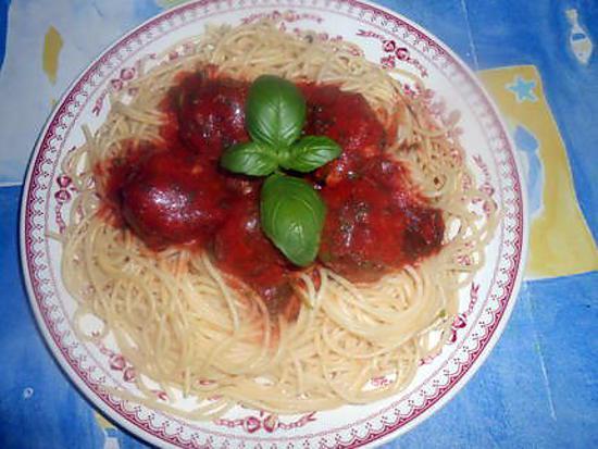Recette de spaghetti aux boulettes de viande par jeanmerode - Portion de viande par personne ...