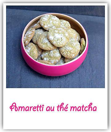 recette d 39 amaretti au th matcha. Black Bedroom Furniture Sets. Home Design Ideas