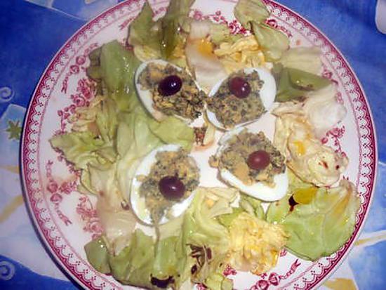 recette Oeufs farcis aux anchois