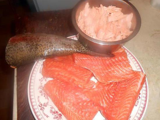 recette Truite de mer:découpe