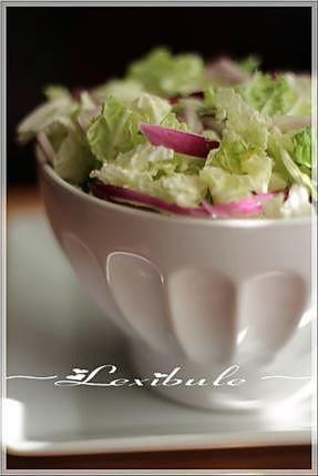 recette ~Salade de chou nappa crémeuse au cari~
