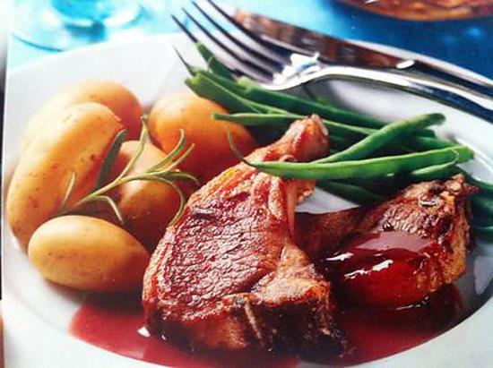 recette Cotes d'agneau au romarin