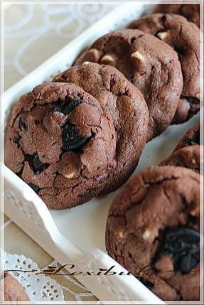 Recette De Biscuits Triple Chocolat Aux Biscuits Oréo