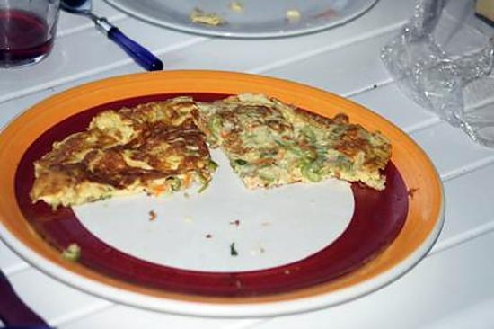 recette Omelette aux fleurs de courgettes