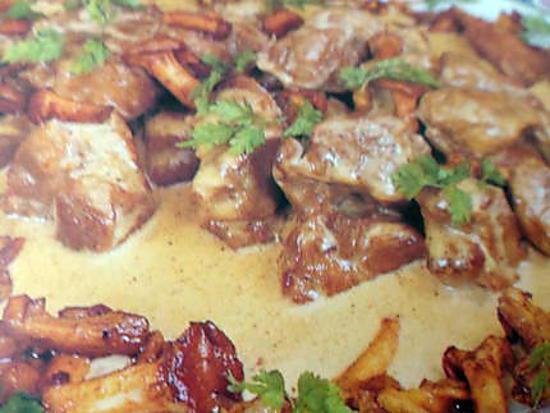 Fricassée de veau aux champignons des bois · recette Fricassée de  champignons