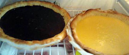 recette tarte au chocolat (y a ma tarte au citron à coté,je sais!)