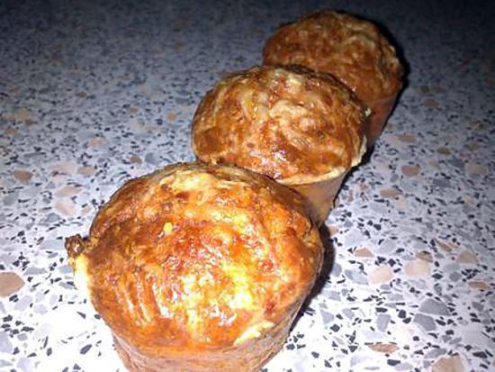 recette ~Muffins aux lardons et coeur ail&fines herbes (recette de ephemer62)~