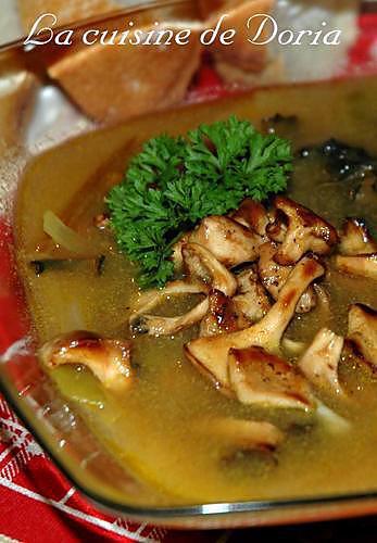 recette Soupe d'Automne aux champignons des bois