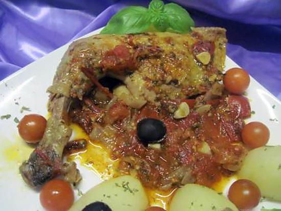 Recette de cuisses de pintade la sauce tomates - Comment cuisiner des cuisses de pintade ...