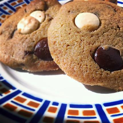 recette DOUBLE CHOCOLATE COOKIES / COOKIES CHOCOLAT NOIR ET BLANC